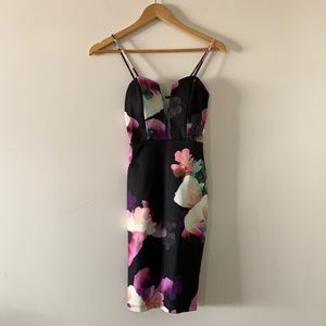 🆕 Charlotte Russe Watercolour Floral Dress XS NWT